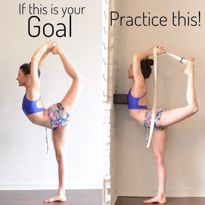 beginner yoga with straps